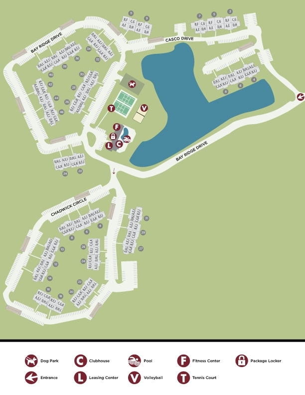 Bay Ridge at Nashua Apartments Nashua NH Map